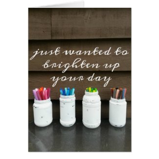 Farmhouse Style DIY Jars Greeting Card