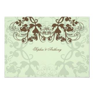 fatfatin Floral Flourish Coffee Wedding Invitation