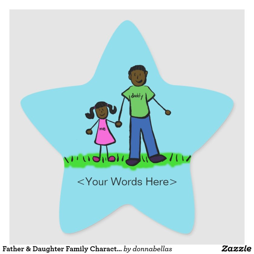 Father & Daughter Family Character Custom Stickers