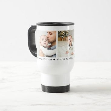 Father's Day 3 Photo Personalized Travel Mug