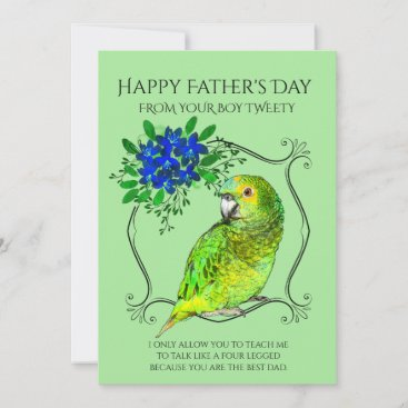 Father's Day From The Parrot Bird Holiday Card