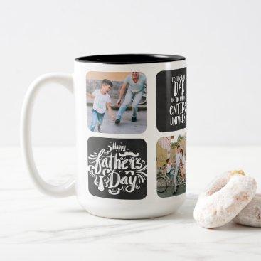 Father's Day Photo Collage Mug