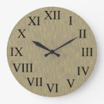 Faux Aged Wood Rustic Country Wall Clock