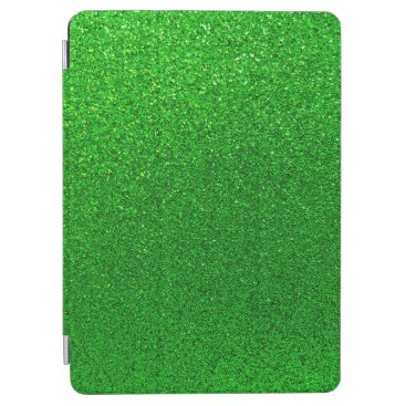 Faux Lime Green Glitter Background Sparkle iPad Air Cover