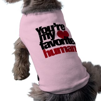 Favorite Human Love Dog Clothing