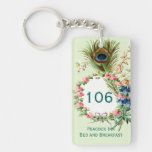 Feather and Floral Wreath Inn Room Keychain
