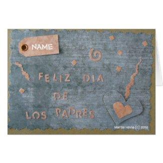 Feliz Dia de Los Padres (Personalize) Card