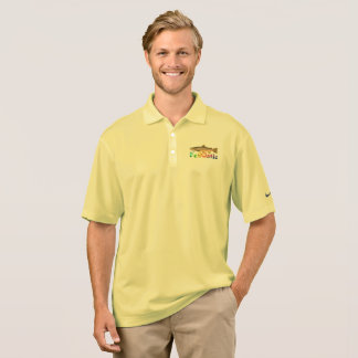 Fennatic Brown Treasure Trout Polo Shirt