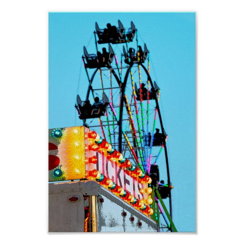 Ferris Wheel at the County Fair Poster