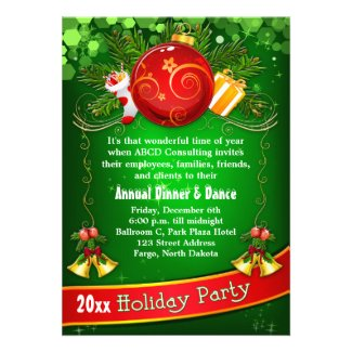 Festive Corporate Holiday Party Invitation