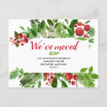 Festive Red Berry New Home | We Have Moved Announcement Postcard