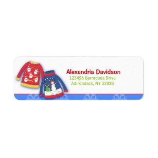 Festive Ugly Sweater Address Labels