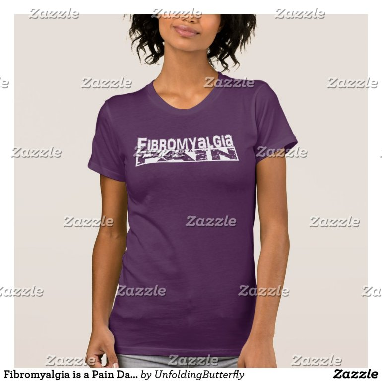 Fibromyalgia is a Pain Dark Shirt White Graphic