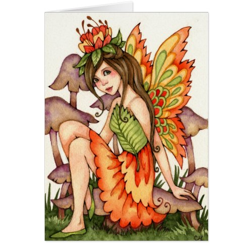 Fiery Wings - Autumn Fairy Art