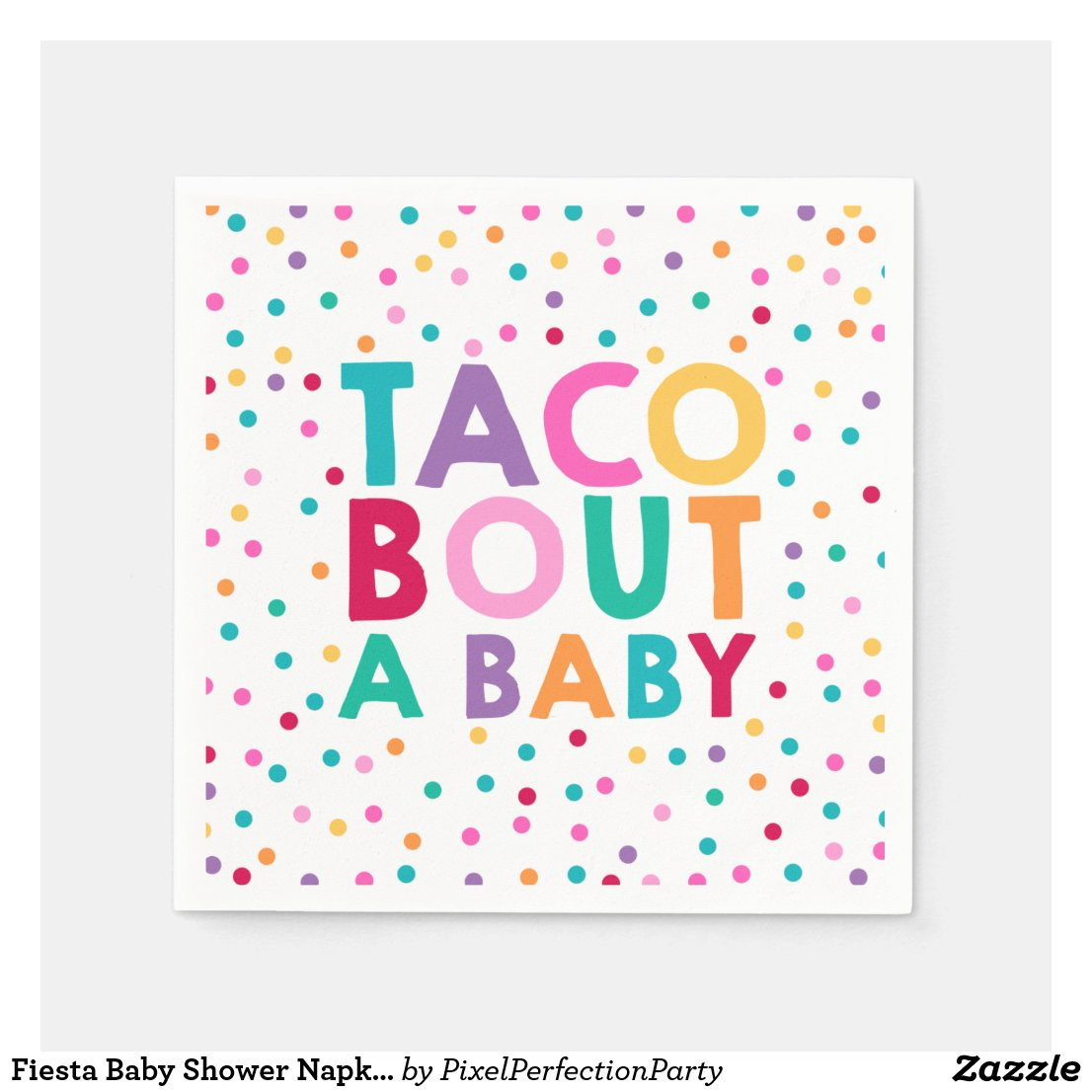 Fiesta Baby Shower Napkin Taco Bout A Baby Party