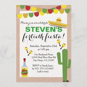 adult mexican birthday invitations zazzle
