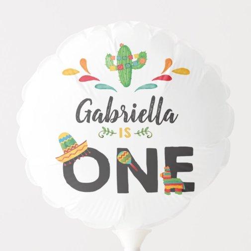 Fiesta First Birthday Balloon