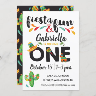 mexican fiesta birthday invitations