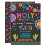 Fiesta Twin Baby Shower Invitation Holy Guacamole