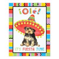 Fiesta Yorkie Card