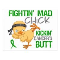 Fightin Chick Bile Duct Cancer Postcard