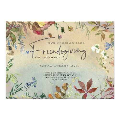 FINE FALL | Watercolor Friendsgiving Feast Invitation
