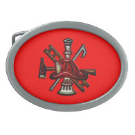 Firefighter Fire and Rescue Department Emblem Belt Buckles