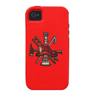 Firefighter Fire and Rescue Department Emblem iPhone 4 Covers