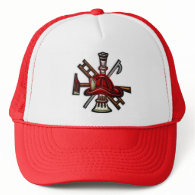Firefighter Fire and Rescue Department Emblem Mesh Hats