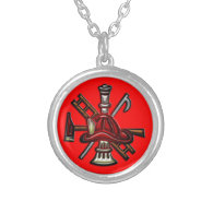 Firefighter Fire and Rescue Department Emblem Pendants
