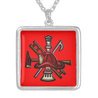 Firefighter Fire and Rescue Department Emblem Custom Jewelry