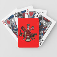 Firefighter Fire and Rescue Department Emblem Playing Cards
