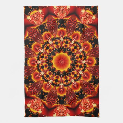 Firewalk, Abstract Spiritual Quest in Flames Towel