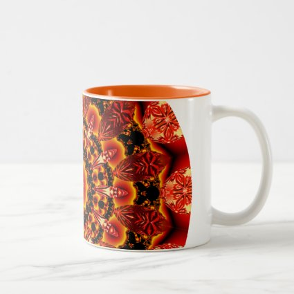 Firewalk Mandala, Abstract Spiritual Quest Mugs