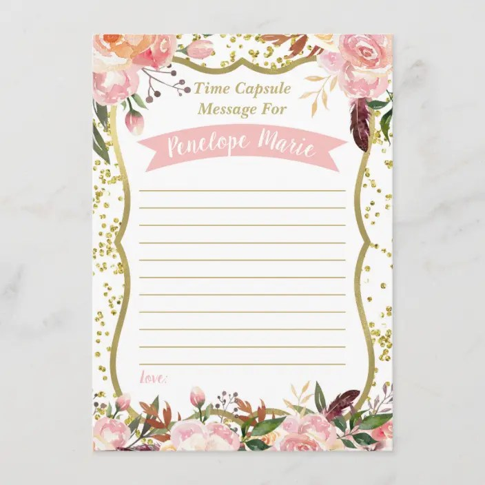 First Birthday Time Capsule Card Zazzle Com
