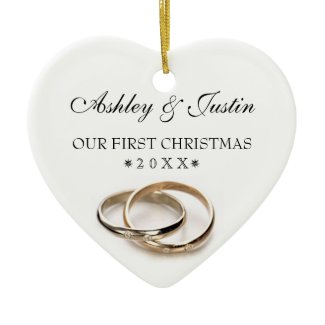 Wedding Rings Christmas Ornament