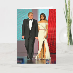 First Couple Donald and Melania Trump Liberty Ball Card