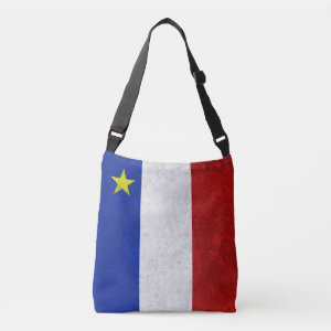 Flag of Acadia Distressed Grunge Tote Bag