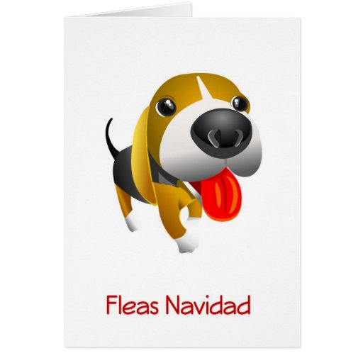 Fleas Navidad Hound Dog Christmas Card Zazzle