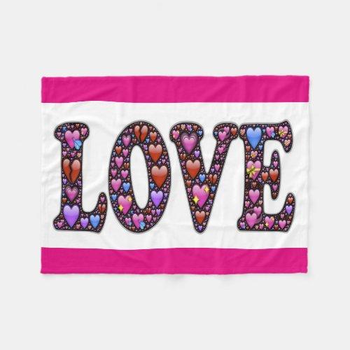 Fleece Blanket/Love