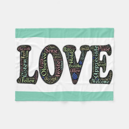 Fleece Blanket/Love