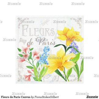 Fleurs de Paris Canvas - Hyacinth Wall Art decor