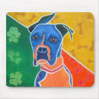 Flip Flop - An Austin Boxer Rescue Success Story Mouse Pad