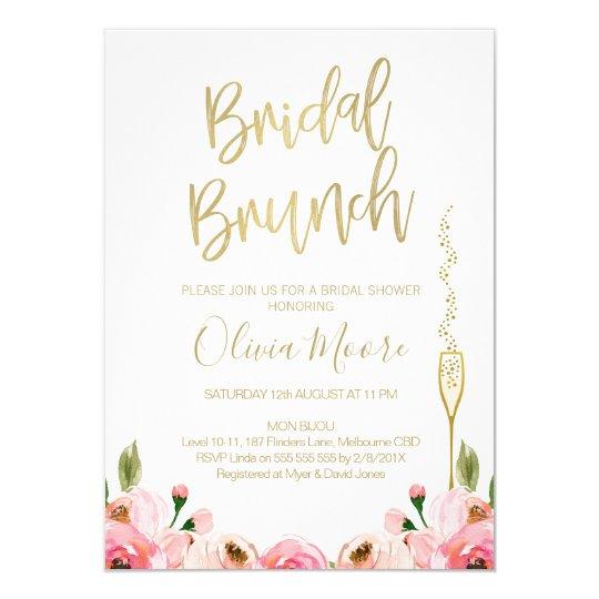 Fl Bridal Brunch Shower Invitation