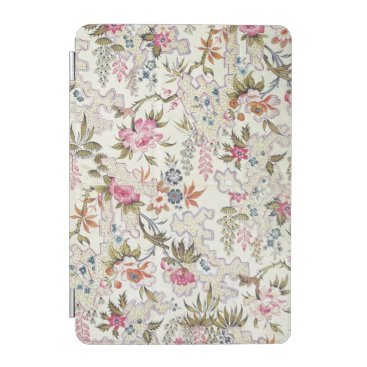 Floral design for silk material with stylized flow iPad mini cover
