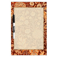 Floral in Fiery Red and Orange Dry-Erase Board