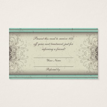 Floral Pattern Damask Elegant Referral Cards