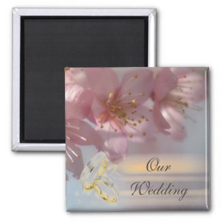 Floral Pink Wedding magnet