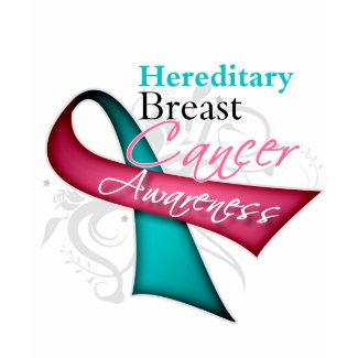 Floral Ribbon Hereditary Breast Cancer shirt