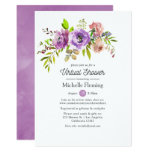 Floral Spring Virtual Bridal or Baby Shower Invitation